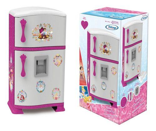 Geladeira Cozinha Infantil Princesas Refrigerador Pop Disney