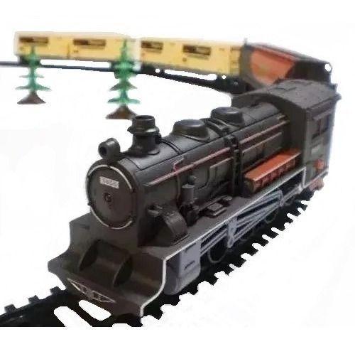 Ferrorama Super Locomotiva C/ Farol Luz Trem Elétrico Pista