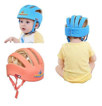 Capacete Proteção Cabeça Bebê Segurança Engatinhar Infantil