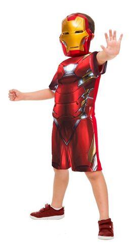 Fantasia Homem De Ferro Iron Man Curta Infantil Original
