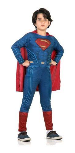 Fantasia Super Homem Infantil Longa Superman Liga Da Justiça