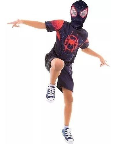 Nova Fantasia Homem Aranha Verse Aranhaverso Spiderman Filme