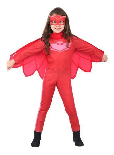 Fantasia Pj Masks Menina Corujita Owlette Longa Luxo Pjmasks