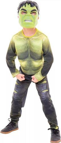 Fantasia Hulk Infantil Luxo Guerra Infinita Com Máscara