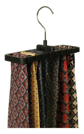 Cabide de Plástico para Cintos e Gravatas