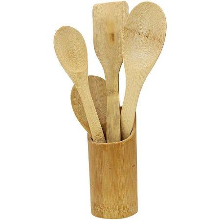 Kit Bambu Com Suporte