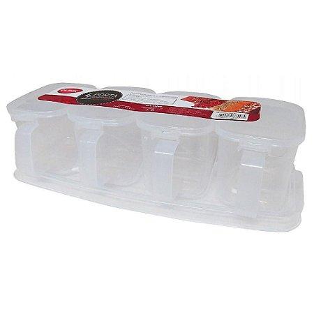 Porta Condimento Quadruplo de Plástico