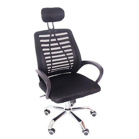 Cadeira de Escritório Giratória c/ Encosto de Cabeça