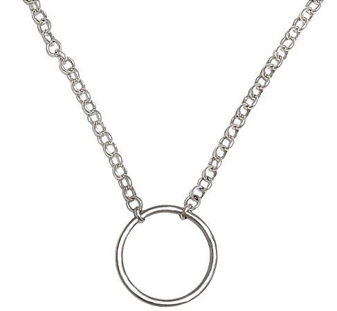 Corrente de prata 925 com pingente circulo da vida