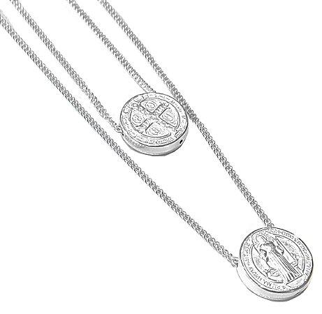 Escapulário de prata 925 São Bento