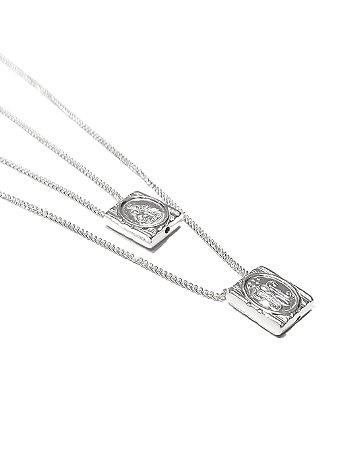 Escapulário caixa mini em prata 925