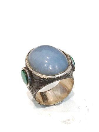 Anel de Prata com Azulita
