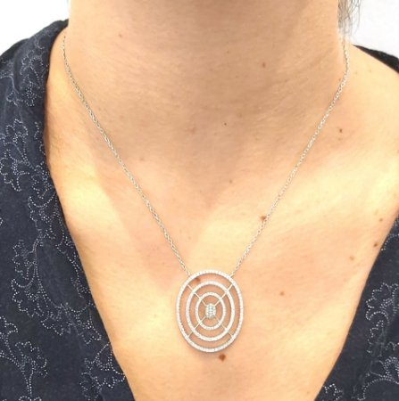 Corrente Prata 925 com pingente de zirconias