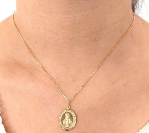 Corrente Prata 925 com pingente de santa