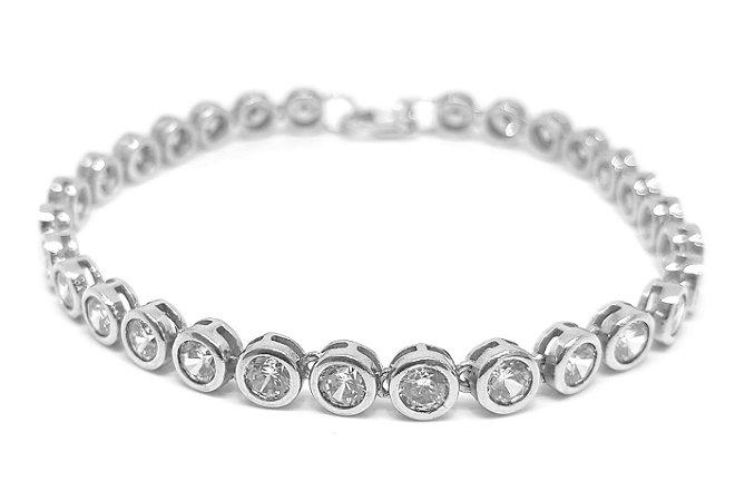 Pulseira em prata 925 com zirconias