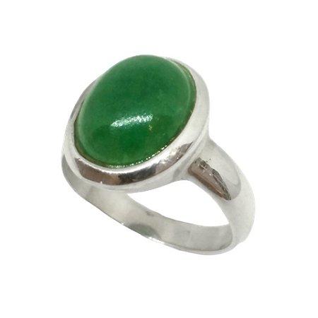 Anel de Prata 925 com Ágata Verde