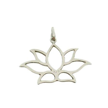 Pingente de Prata 925 Flor de Lotus