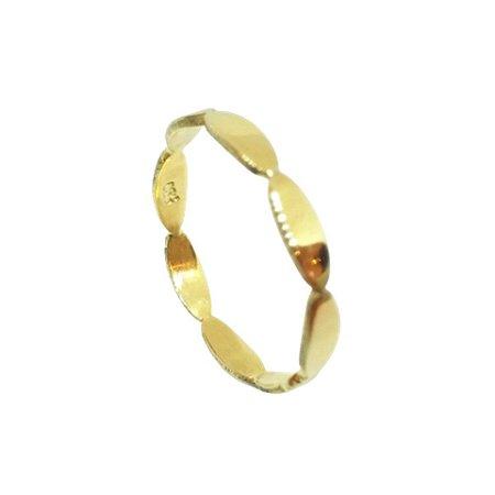 Anel de Ouro 18k Amarelo Elipses