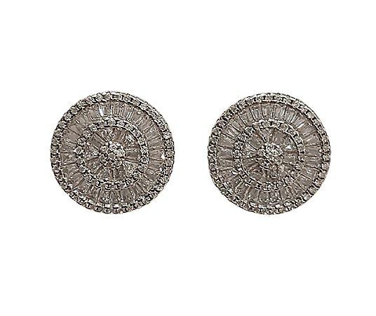 brinco de prata 925 com zircônia e banho de ródio modelo pizza