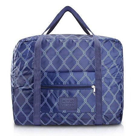 Bolsa de Viagem Dobrável Retangular Estampa Listrada Jacki Design