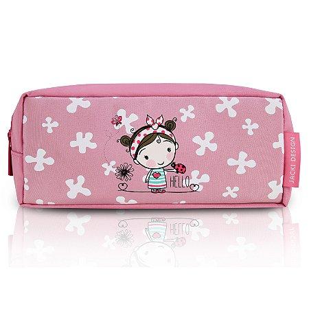 Estojo Tamanho Pequeno Rosa Pequeninos Jacki Design