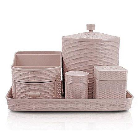 Kit de Organização com 5 Peças Rattan Jacki Design