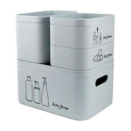 Kit Organizador Multifuncional com 4 Peças Jacki Design