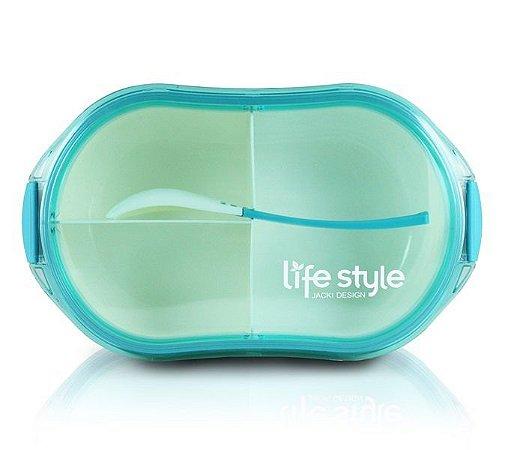 Pote Marmita Lifestyle com 3 Compartimentos 750 ml Jacki Design