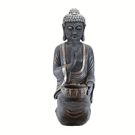 Buda ajoelhado grande mão levantada