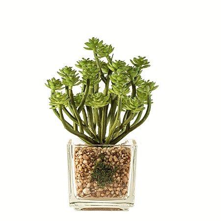 Flor artificial suculenta c/ vaso m1