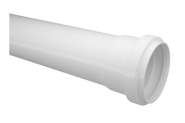Tubo de Esgoto 50mm Fortlev com 6 Metros Branco
