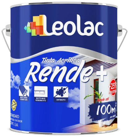 Tinta Acrílica Fosco Rende Mais Azul Profundo LeoLac 3,6 Litros