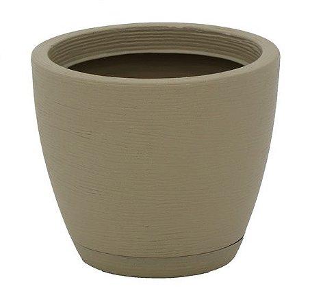 Vaso com Prato Tramontina Asteca 32 cm em Polietileno