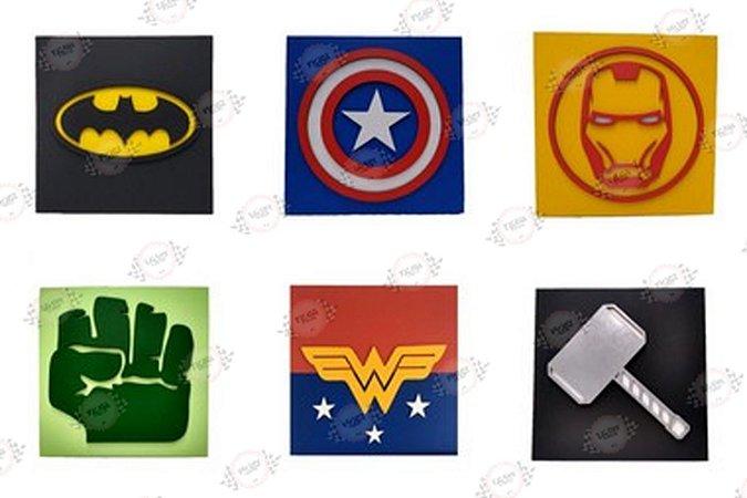 Placa Decorativa Super Heróis