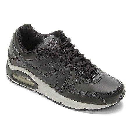 Tênis Couro Nike Air Max Command Masculino Cor Preto