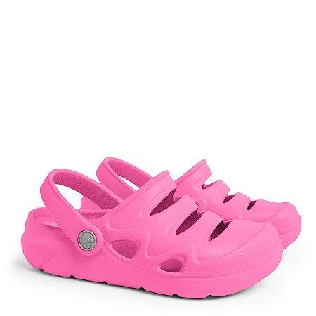 Sandália Clog Okean Infantil Feminino Cor Rosa Pink