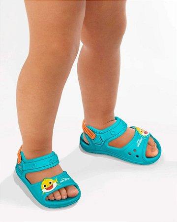 Sandália Grendene Kids Baby Shark Infantil Masculino Cor Azul