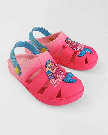 Babuche Grendene Kids Barbie Infantil Feminino Cor Rosa