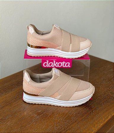 Tênis Dakota Slip On Cor Aveia