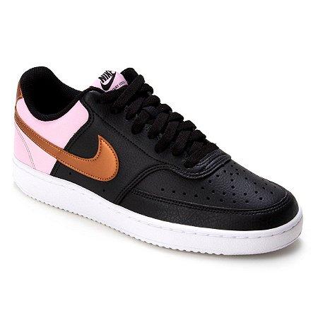 Tênis Nike Wmns Court Vision Low Cor Preto