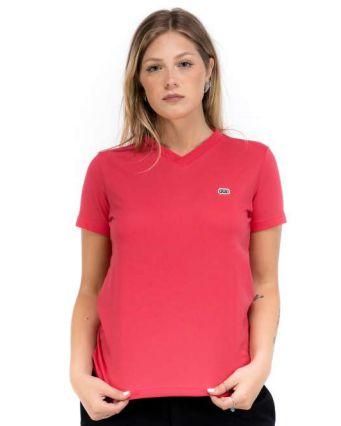 Camiseta Hocks Logo Bordado Cor Rosa