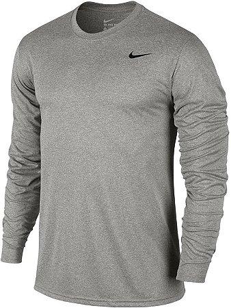 Camiseta Nike Masculina Manga Longa Dry  Cor Cinza