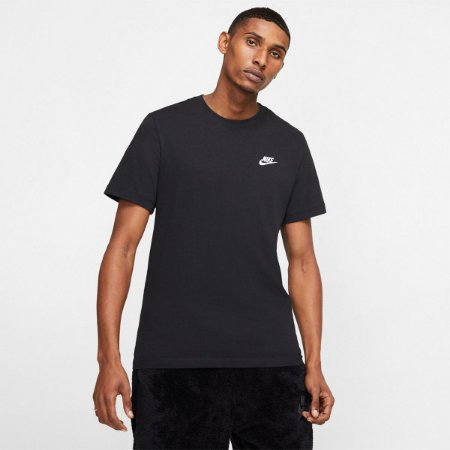 Camiseta Nike Club Tee Masculina Cor Preto