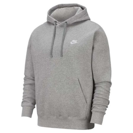 Moletom Nike Club Hoodie Masculino Cor Cinza