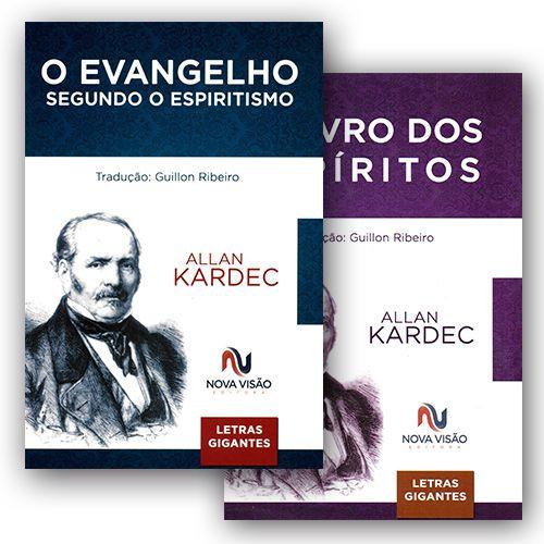 O Evangelho + Livro dos Espíritos com Letras Gigantes