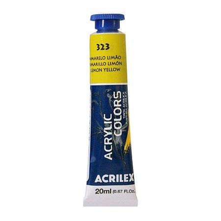 Tinta Acrílica Acrilex 20ml 323 Amarelo Limão
