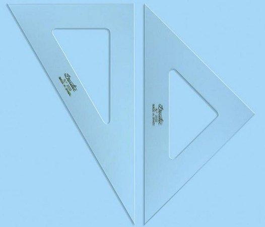 Esquadro Trident sem escala 45º e 60º 2532/2632 32cm jogo