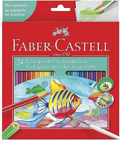 Lápis de cor Faber Castell EcoLápis Aquarelável 24 cores