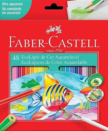 Lápis de Cor Faber Castell EcoLápis Aquarelável 48 cores