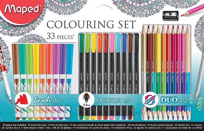 Kit  Colors' Peps de Coloração Maped com 33 pçs